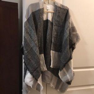 Jackets & Blazers - Plaid Shawl, like new